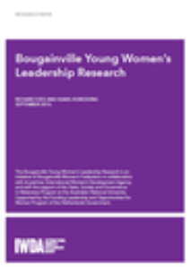 Bougainville Young Women's Leadership Research