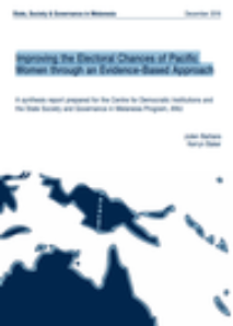 Improving the Electoral Chances of Pacific Women through an Evidence-Based Approach