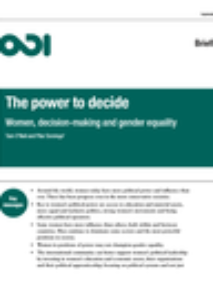ODI report (2015): The Power to Decide: Women, decision-making and gender equality