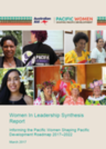 Pacific Women in Leadership Synthesis Report