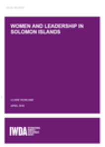 Women and Leadership in Solomon Islands