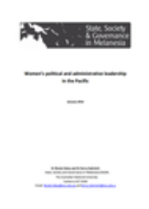 Women's political and administrative leadership in the Pacific