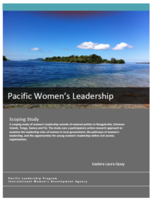 PLP Pacific Women's Leadership Scoping Study