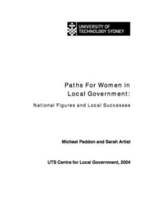 Paths For Women in Local Government in Australia