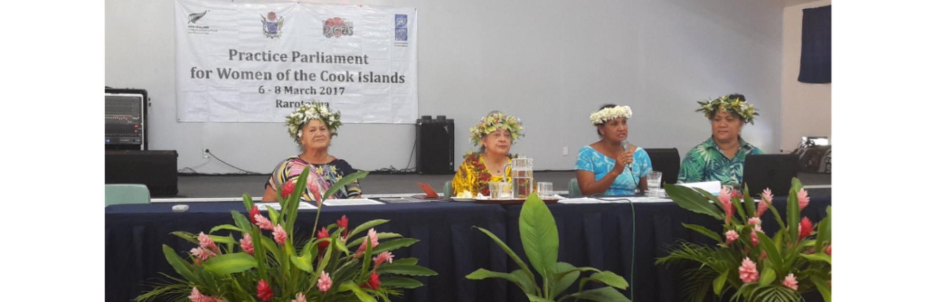 Cook Islands Practice Parliament for women, 2016